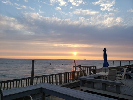 North Truro Cape Cod vacation rental - Sunset from our beachfront deck