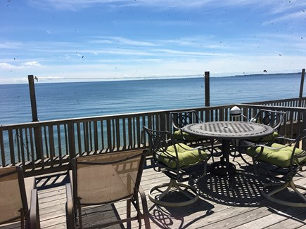 North Truro Cape Cod vacation rental - View of the Bay from the expansive private deck
