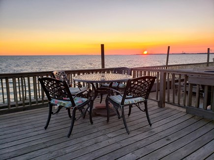 North Truro Cape Cod vacation rental - Sunset on the deck
