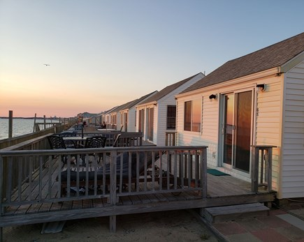 North Truro Cape Cod vacation rental - View of the deck nestled among 7 neighboring cottages