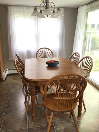 Harwich Cape Cod vacation rental - Dining table with additional leaf extension for sharing meals