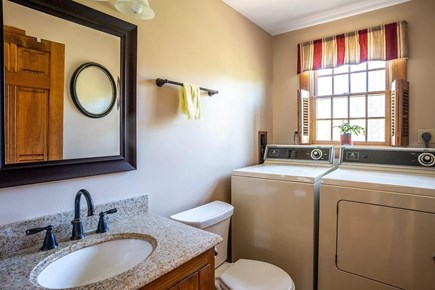 Eastham Cape Cod vacation rental - Downstairs (main floor) 1/2 bathroom with washer/dryer