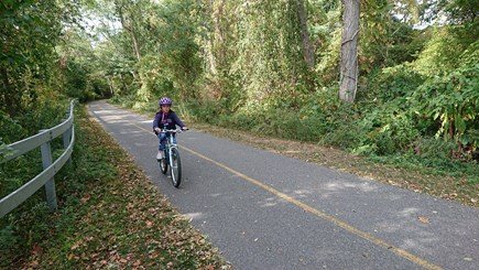 Eastham Cape Cod vacation rental - The famous Cape Cod Rail Trail is a 3 minute bike ride away.