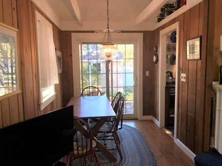 West Harwich Cape Cod vacation rental - Dining with Slider to Patio