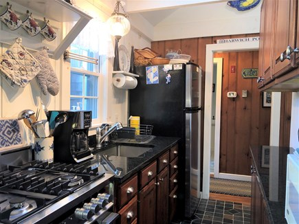 West Harwich Cape Cod vacation rental - Galley Kitchen with Gas Stove
