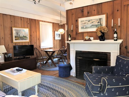 West Harwich Cape Cod vacation rental - Fireplaced Living Room