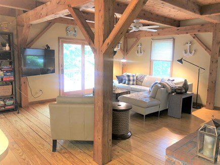 Eastham Cape Cod vacation rental - Relaxing living space, 55 in Roku smart TV, Google Wifi