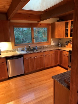 Truro, Bayside, one mile to Co Cape Cod vacation rental - Kitchen, north view