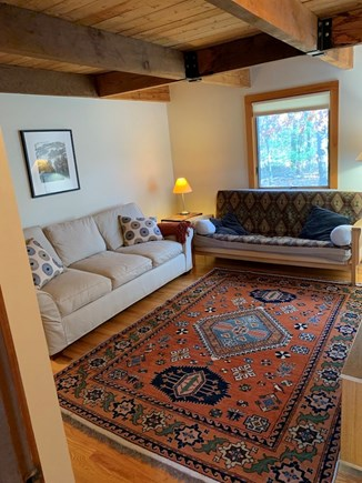 Truro, Bayside, one mile to Co Cape Cod vacation rental - TV room, with Q futon, is off the living area, hall toward MBR