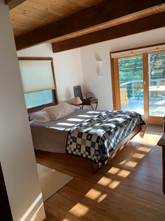 Truro, Bayside, one mile to Co Cape Cod vacation rental - East bedroom off deck, sliding door to front deck.