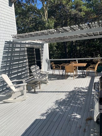 Truro, Bayside, one mile to Co Cape Cod vacation rental - Deck, facing east