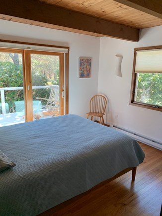 Truro, Bayside, one mile to Co Cape Cod vacation rental - Bedroom off deck, west wing, sliding door to front deck