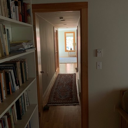 Truro, Bayside, one mile to Co Cape Cod vacation rental - Hallway from TV room to MBR/BA ensuite.