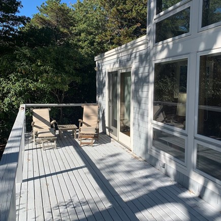 Truro, Bayside, one mile to Co Cape Cod vacation rental - Deck, facing west