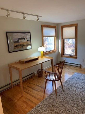 Truro, Bayside, one mile to Co Cape Cod vacation rental - Master suite, workspace to left