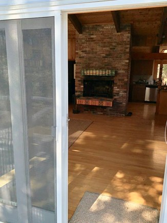 Truro, Bayside, one mile to Co Cape Cod vacation rental - Slider door opens to living/dining area, from the front deck
