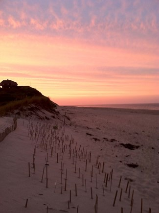 Truro, Bayside, one mile to Co Cape Cod vacation rental - Ballston Beach at sunset, looking north toward Provincetown.