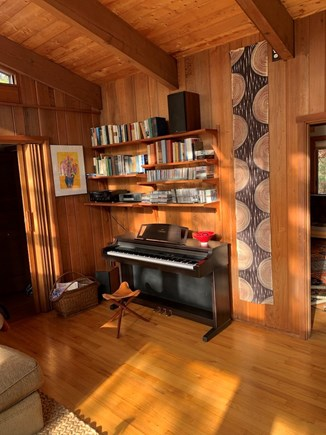 Truro, Bayside, one mile to Co Cape Cod vacation rental - In the living area, a Yahama piano, with full keyboard