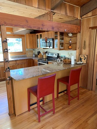 Truro, Bayside, one mile to Co Cape Cod vacation rental - View of counter/kitchen, from central living/dining area