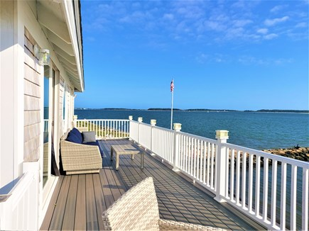 West Yarmouth Cape Cod vacation rental - 2nd floor deck looking east