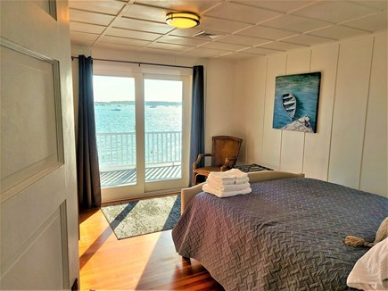 West Yarmouth Cape Cod vacation rental - 2nd floor queen bedroom with sliders to the deck