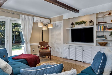 East Orleans Cape Cod vacation rental - Comfy family room with flat screen TV and sliders to deck