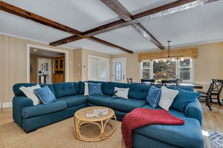 East Orleans Cape Cod vacation rental - Sunny family room and comfortable sectional