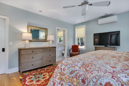 East Orleans Cape Cod vacation rental - Main Bedroom with flat screen TV