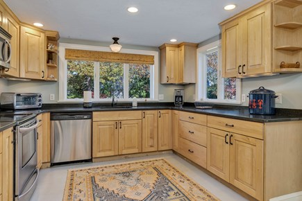 East Orleans Cape Cod vacation rental - Well appointed kitchen - complete with lobster pot!