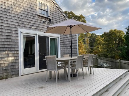 East Orleans Cape Cod vacation rental - Perfect deck for al fresco dining.