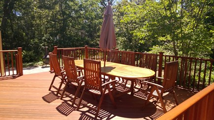 Eastham Cape Cod vacation rental - Large deck with teak furniture