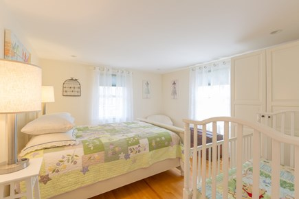 Eastham Cape Cod vacation rental - Bed #3: Second floor queen bedroom with baby crib