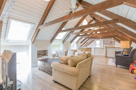 Eastham Cape Cod vacation rental - Upstairs relaxing living space, 55 in Roku smart TV, Google Wifi