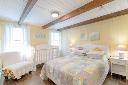 Eastham Cape Cod vacation rental - Bedroom #4: Queen bed and baby crib on the first floor
