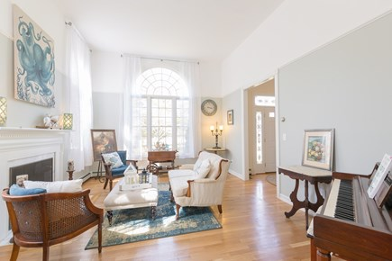 Eastham Cape Cod vacation rental - Living room with piano and games