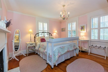 West Barnstable Cape Cod vacation rental - First floor bedroom with Queen & en-suite bath with glass shower