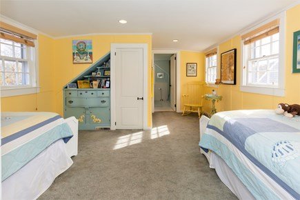 West Barnstable Cape Cod vacation rental - Second floor third bedroom with two twins and en-suite bath w/tub