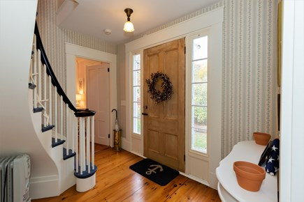 West Barnstable Cape Cod vacation rental - Gorgeous Original Bannister staircase and pine floors