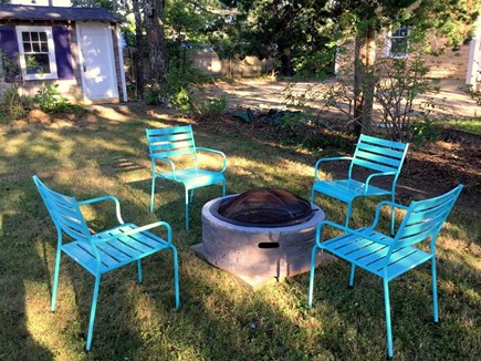 South Yarmouth Cape Cod vacation rental - Fire pit in spacious back yard