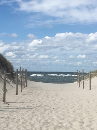 Dennis Cape Cod vacation rental - Entrance to the beach.