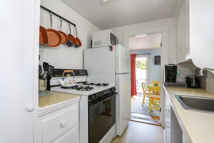 Dennis Port Cape Cod vacation rental - Fully equipped kitchen w/microwave, oven, pots/pans