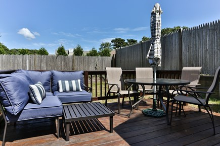 Dennis Port Cape Cod vacation rental - Outdoor dining, charcoal grill & beach chairs provided