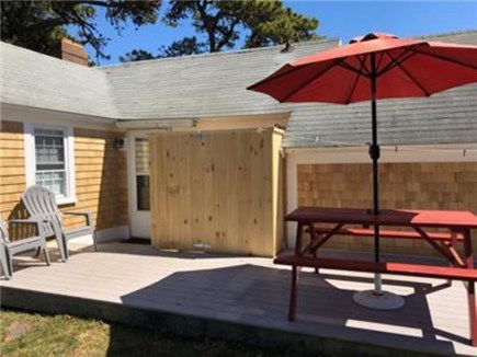 Dennis Port Cape Cod vacation rental - Outdoor shower, charcoal grill and beach chairs provided