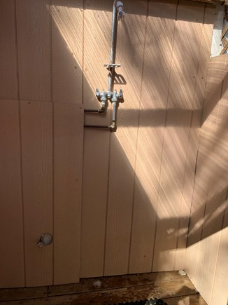 Dennis Port Cape Cod vacation rental - Covered Outside shower