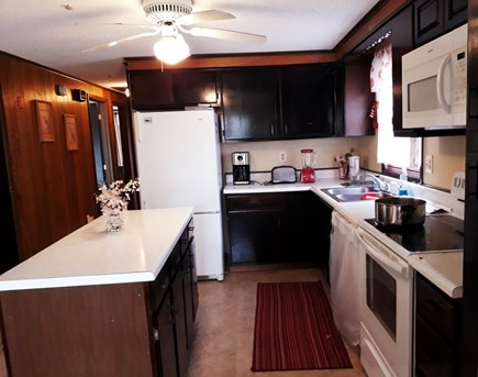Falmouth, on Fresh pond Cape Cod vacation rental - Kitchen is well equipped: big refrigerator, stove, dishwasher,etc