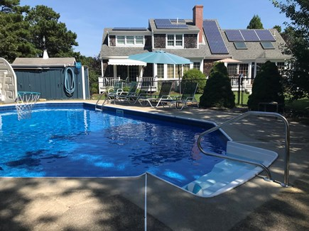 Harwich Cape Cod vacation rental - Beautiful inground pool with pool house.1/2 bath & outside shower