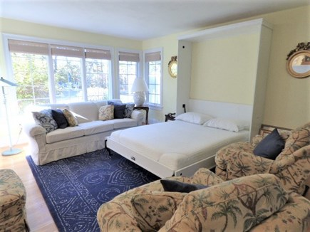 Harwich Cape Cod vacation rental - Murphy bed in family room easy to pull down. New Mattress