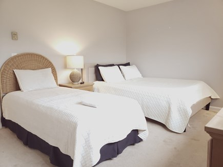 Brewster Cape Cod vacation rental - 1 of 2 identical upstairs bedrooms.  1 queen, 1 twin per room