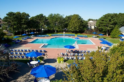 Brewster Cape Cod vacation rental - Aerial view of Arbor Pool.  1 of 3 outdoor pools.