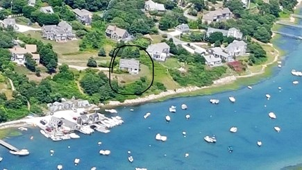 Chatham Cape Cod vacation rental - Aerial view (house is circled)